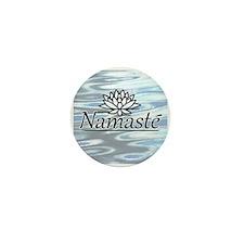 "Namaste Lotus Ripple 1"" Mini Button (10 pack)"