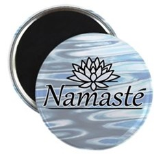 "Namaste Lotus Ripple 2.25"" Magnet (10 pack)"
