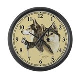 Siberian husky Giant Clocks