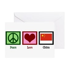 Peace Love China Greeting Card