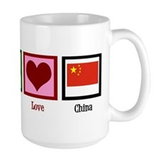 Peace Love China Mug
