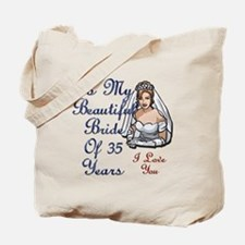 Funny 35th wedding anniversary Tote Bag