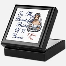 Unique 35th wedding anniversary Keepsake Box