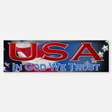 USA - In God We Trust - Bumper Bumper Sticker