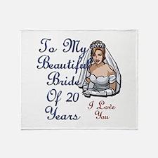 Cute 20 years Throw Blanket