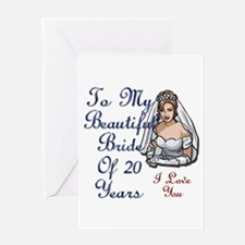 Cute Just married Greeting Card