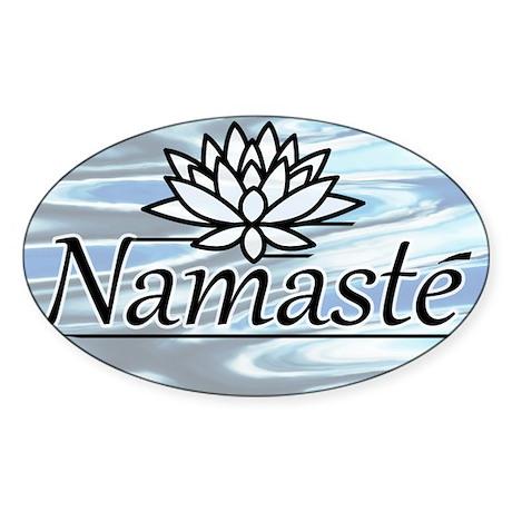 Namaste Lotus Ripple Sticker (Oval 50 pk)