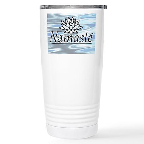 Namaste Lotus Ripple Stainless Steel Travel Mug