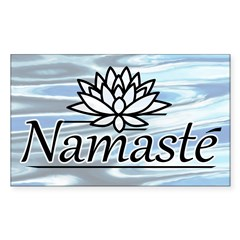 Namaste Lotus Ripple Sticker (Rectangle 50 pk)