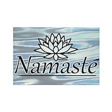 Namaste Lotus Ripple Rectangle Magnet