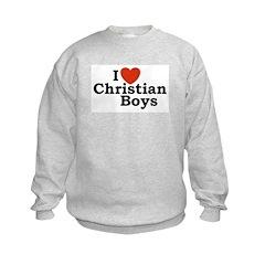 I loves Christian Boys Sweatshirt