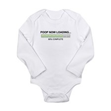 Poop Now Loading Long Sleeve Infant Bodysuit