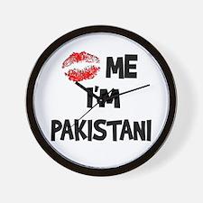 Kiss Me I'm Pakistani Wall Clock