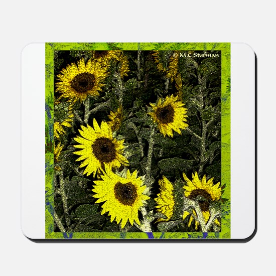 Sunflowers, colorful, Mousepad