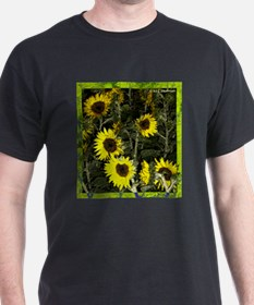 Sunflowers, colorful, T-Shirt
