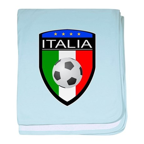 Italia Soccer Patch baby blanket