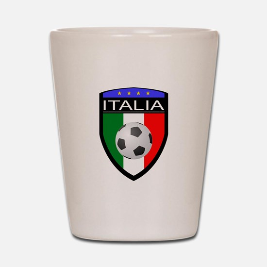 Italia Soccer Patch Shot Glass
