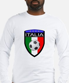Italia Soccer Patch Long Sleeve T-Shirt