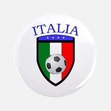 "Italian Soccer 3.5"" Button (100 pack)"