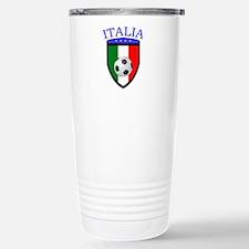 Italian Soccer Stainless Steel Travel Mug