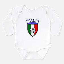 Italian Soccer Long Sleeve Infant Bodysuit