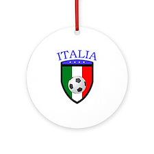 Italian Soccer Ornament (Round)