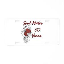 Cool 60th wedding anniversary Aluminum License Plate