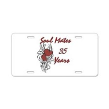 35th wedding anniversary Aluminum License Plate