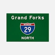 Grand Forks 29 Rectangle Magnet