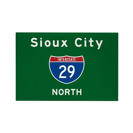 Sioux City 29 Rectangle Magnet