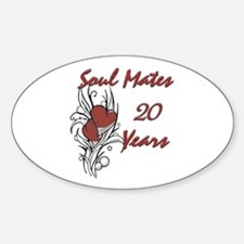 Funny 20th wedding anniversary Decal