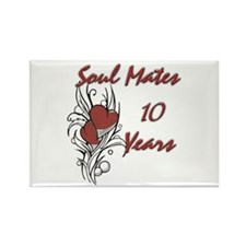 Funny 10th wedding anniversary Rectangle Magnet