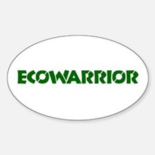 """Ecowarrior"" Oval Decal"