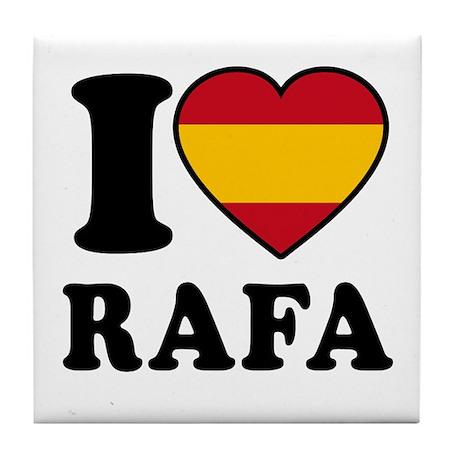I Love Rafa Nadal Tile Coaster