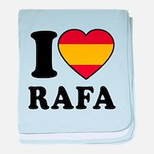 I Love Rafa Nadal baby blanket