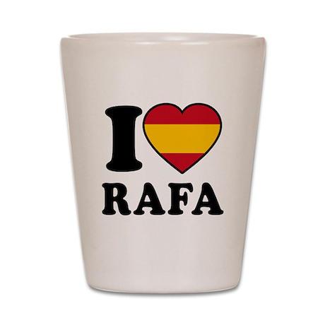 I Love Rafa Nadal Shot Glass