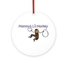 Mommy's Li'l Monkey Ornament (Round)