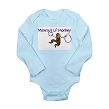 Mommy's Li'l Monkey Long Sleeve Infant Bodysuit