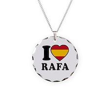 I Love Rafa Nadal Necklace Circle Charm