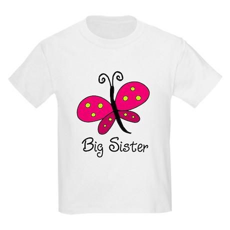 Butterfly Lil Sis Kids Light T-Shirt