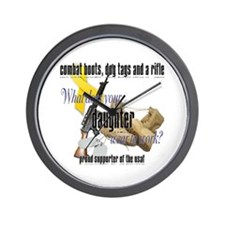 AF What Does Your Daughter Wear Wall Clock