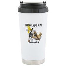 AF What Does Your Grandson Wear Travel Mug
