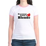 Everyone Loves a Blonde Jr. Ringer T-Shirt