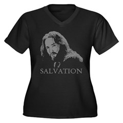 Jesus is Salvation Women's Plus Size V-Neck Dark T