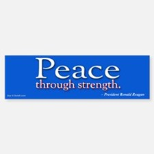 Peace Through Strength sticker (Bumper)
