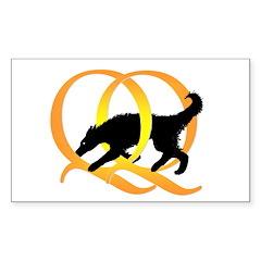 QQ Agility Dog Decal
