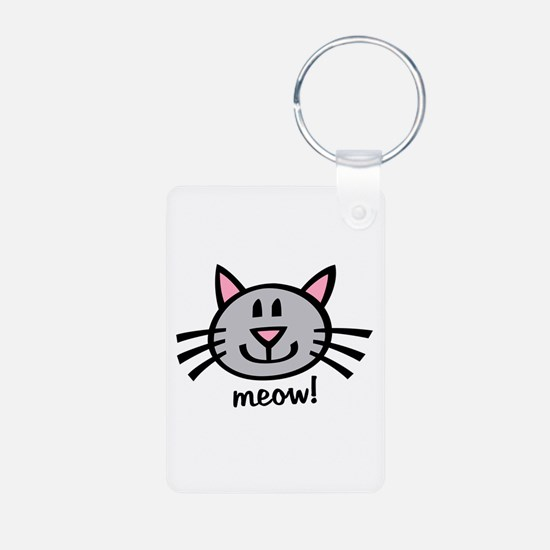 Lil Grey Cat Keychains
