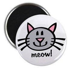 Lil Grey Cat Magnet