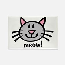 Lil Grey Cat Rectangle Magnet
