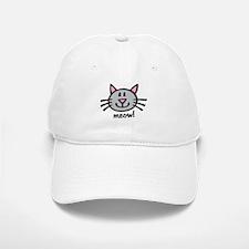 Lil Grey Cat Baseball Baseball Cap